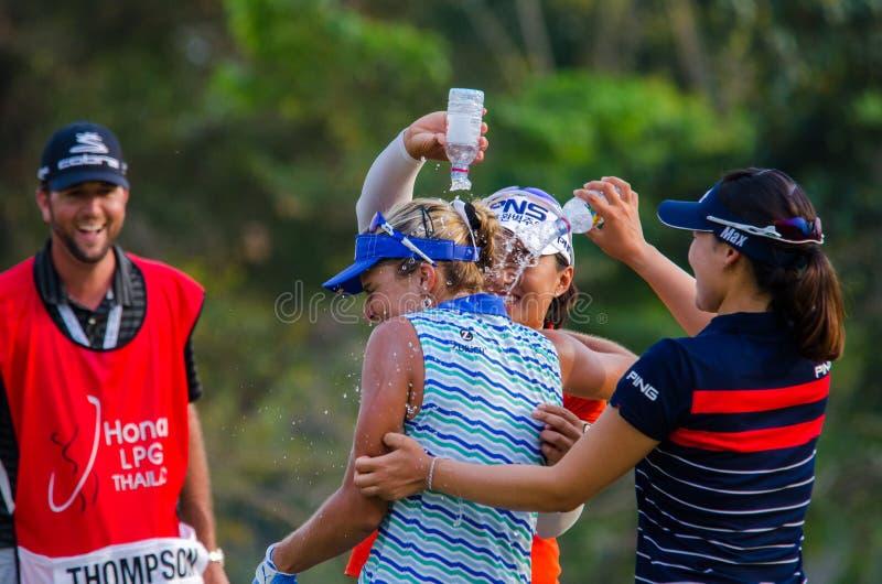 Lexi Thompson de los E.E.U.U. en Honda LPGA Tailandia 2016 imágenes de archivo libres de regalías