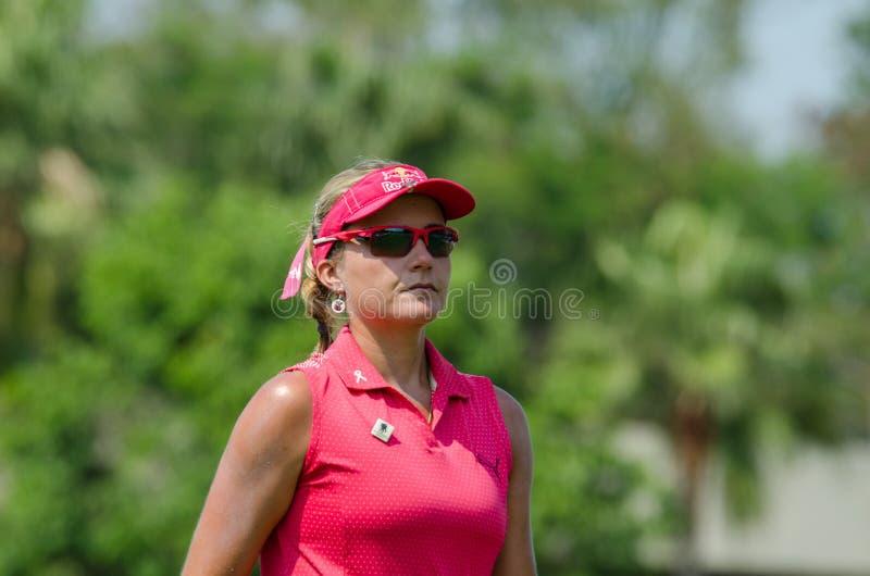 Lexi Thompson de los E.E.U.U. en Honda LPGA Tailandia 2016 foto de archivo