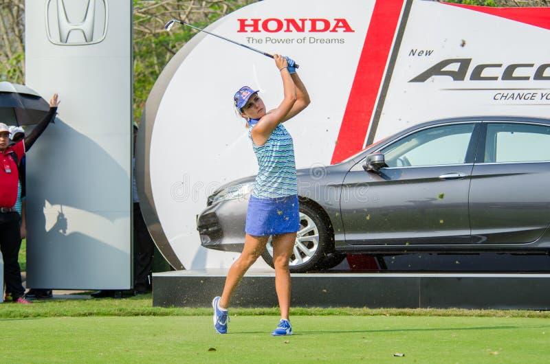 Lexi Thompson del campeón de los E.E.U.U. de Honda LPGA Tailandia 2016 fotografía de archivo libre de regalías