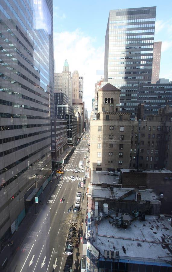 Lexington aveny New York från över, trafik USA arkivfoto