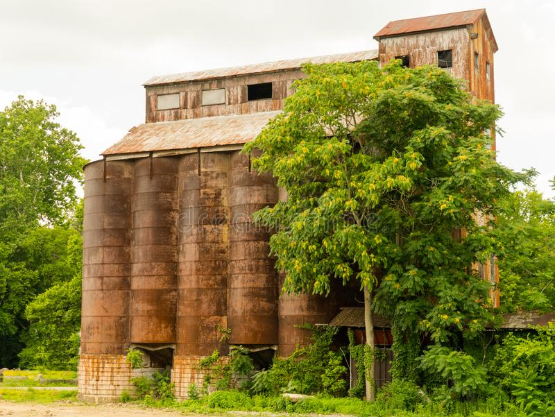 Lexington, Kentucky / United States - June 19, 2018: The highway between Lexington and Paris, Kentucky offers spectacular scenery. Image of an abandoned barn or royalty free stock images