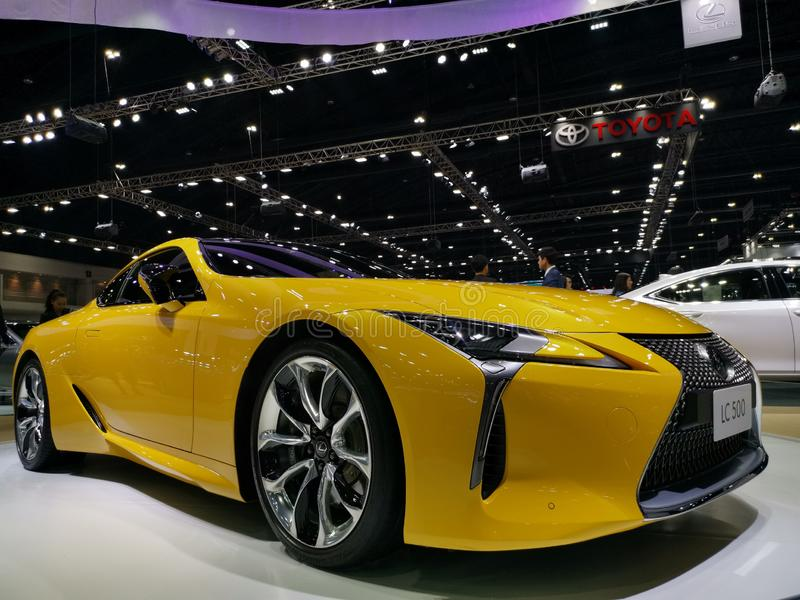 Lexus flagship coupe LC 500 stock image