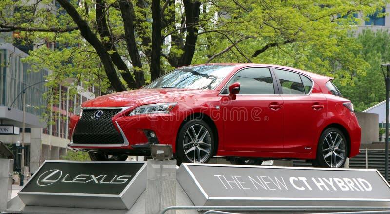 Lexus Hybrid vermelho imagens de stock