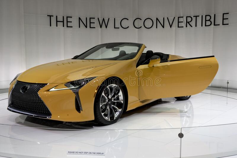 Lexus LC convertible at the annual International Auto-show stock photography