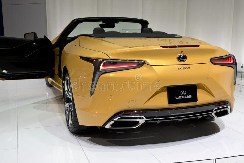 Lexus LC convertible at the annual International Auto-show stock image