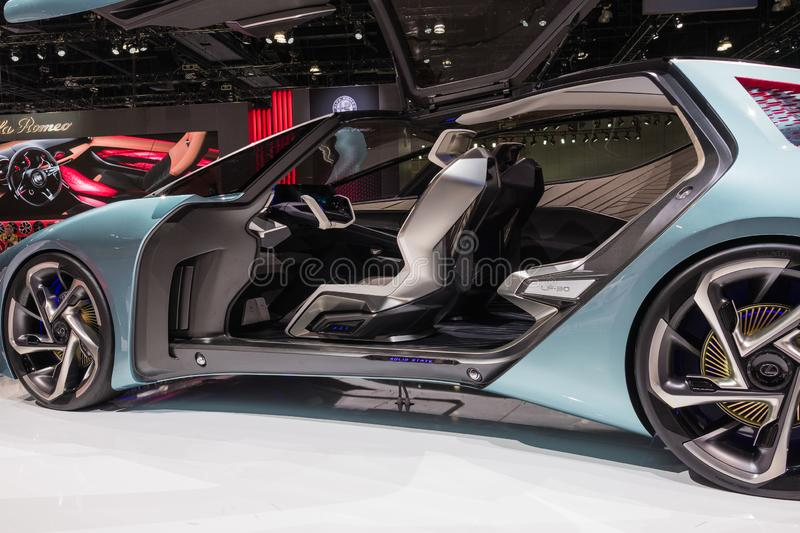 Lexus LF-30 electrified concept on display during Los Angeles Auto Show stock photography