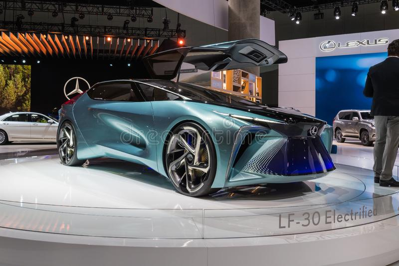 Lexus LF-30 electrified concept on display during Los Angeles Auto Show royalty free stock photo