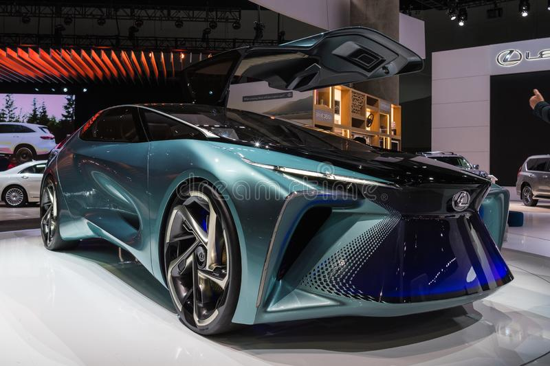 Lexus LF-30 electrified concept on display during Los Angeles Auto Show stock image