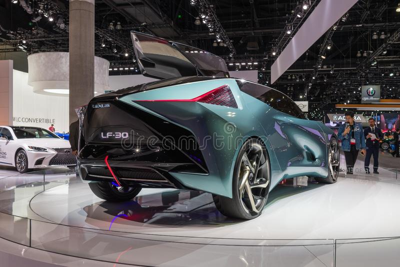 Lexus LF-30 electrified concept on display during Los Angeles Auto Show stock images