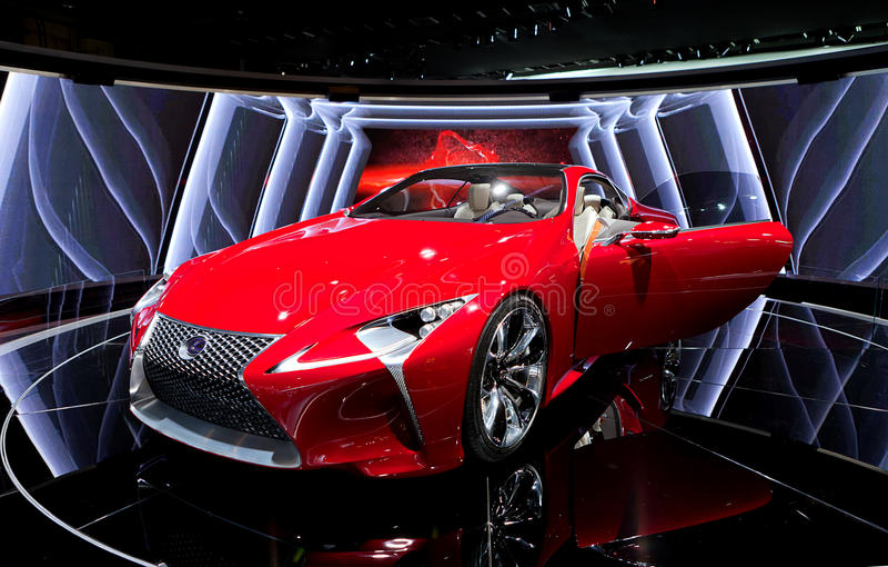 Download Lexus LF-LC Hybrid Concept 2012 NAIAS Editorial Stock Photo - Image: 22865038
