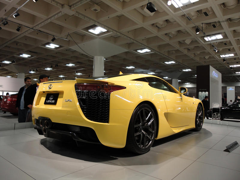 Lexus LFA Speedy car on display at Auto Show royalty free stock photography