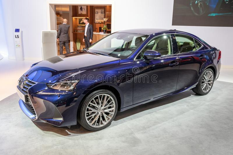 Lexus IS Luxury Hybrid Sports Saloon car royalty free stock image