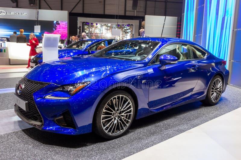 Lexus RC F mette in mostra l'automobile del coupé immagine stock libera da diritti