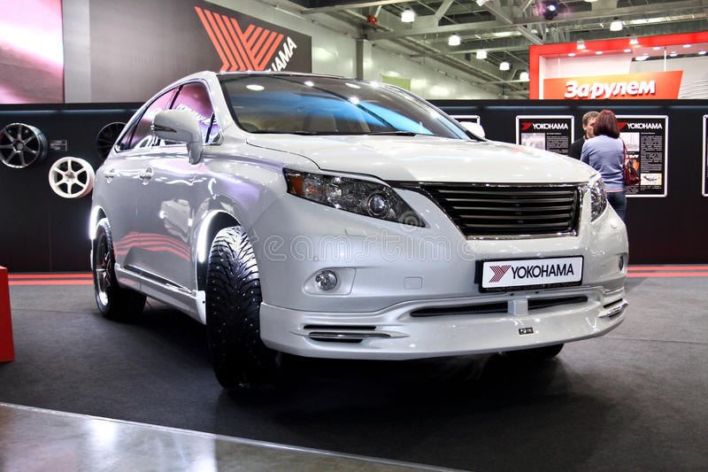 Lexus RX350 JAOS. MOSCOW - AUGUST 25: Lexus RX350 JAOS at the international exhibition of the auto and components industry, Interauto on August 25, 2011 in stock photos
