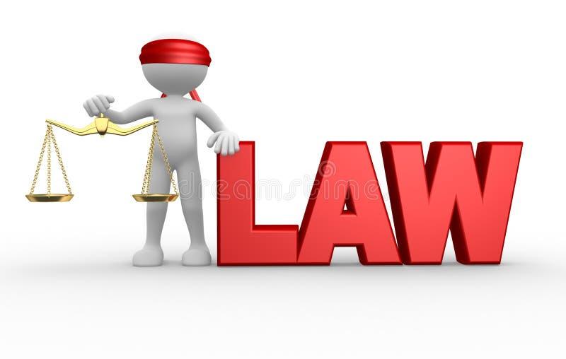 Ley ilustración del vector
