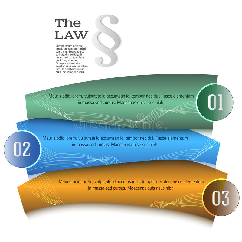 Ley de la guía de la presentación de la plantilla del elemento del diseño ilustración del vector