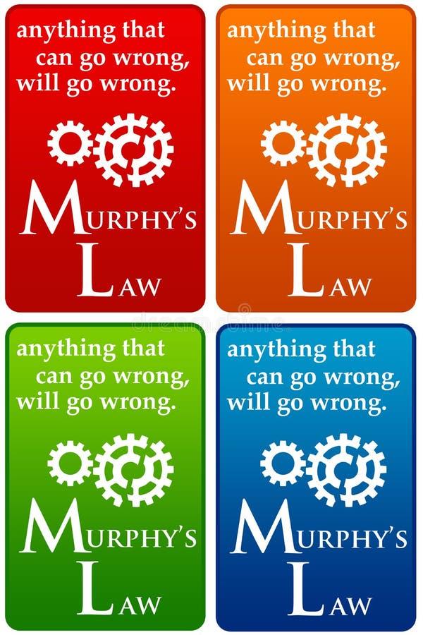 Ley de Murphys ilustración del vector