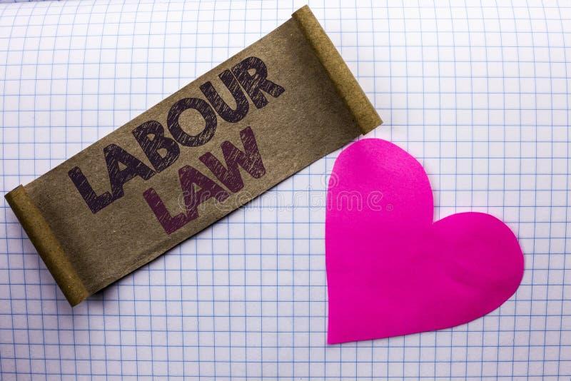 Ley de trabajo del texto de la escritura El empleo del significado del concepto gobierna la unión de la legislación de las obliga imágenes de archivo libres de regalías