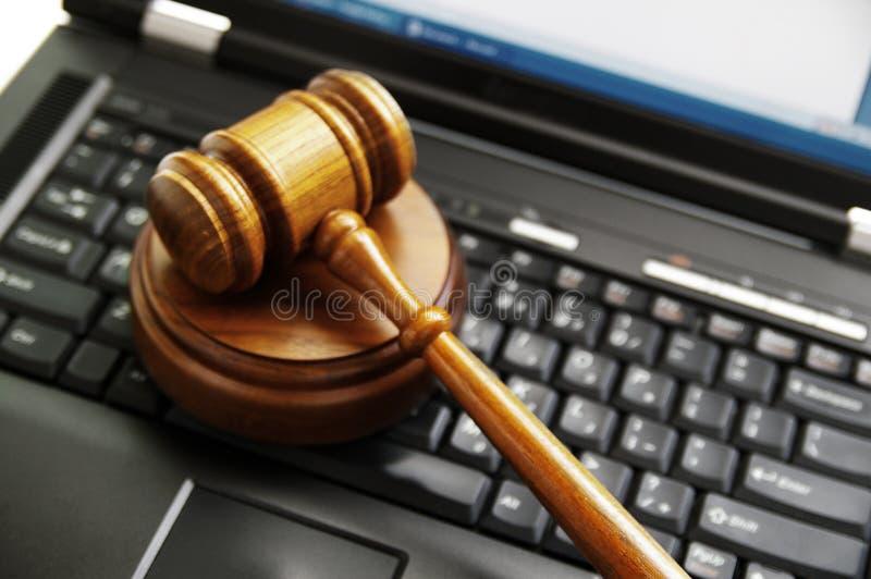Ley del Cyber fotografía de archivo