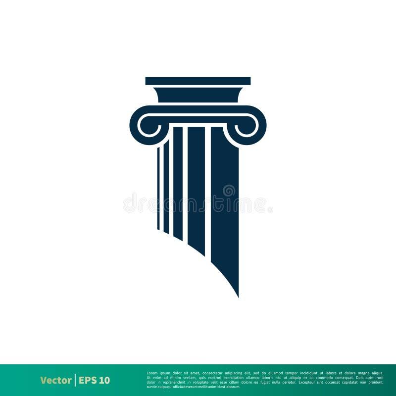 Ley del pilar, vector Logo Template Illustration Design del icono de la columna Vector EPS 10 stock de ilustración