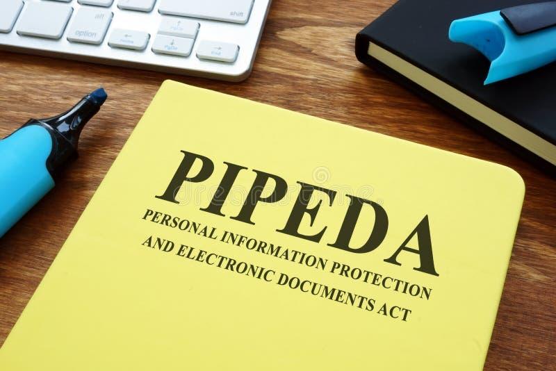 Ley PIPEDA sobre protección de la información personal y documentos electrónicos foto de archivo