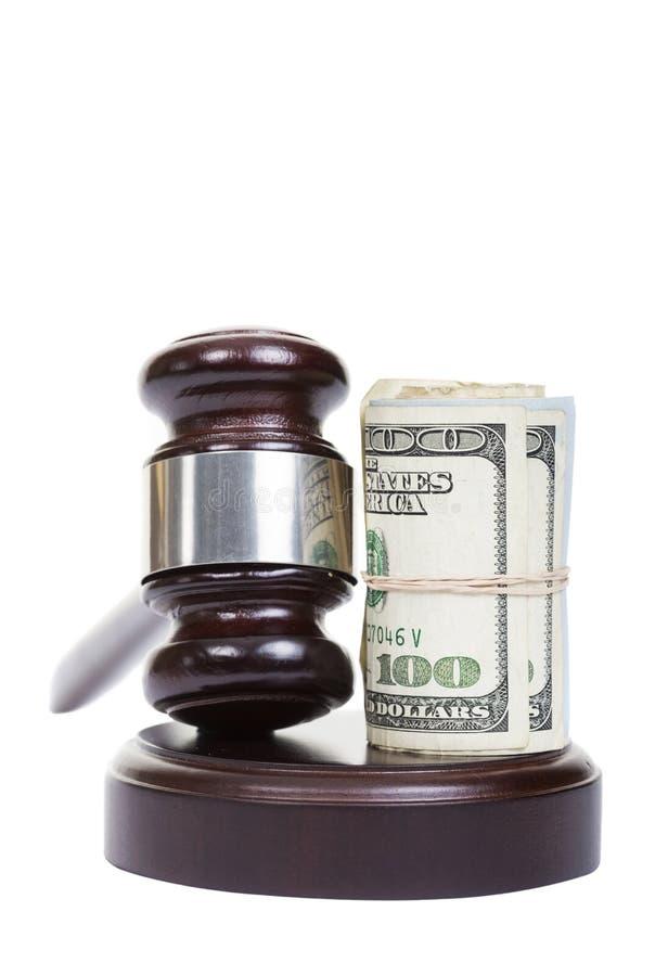 Ley y dinero imágenes de archivo libres de regalías