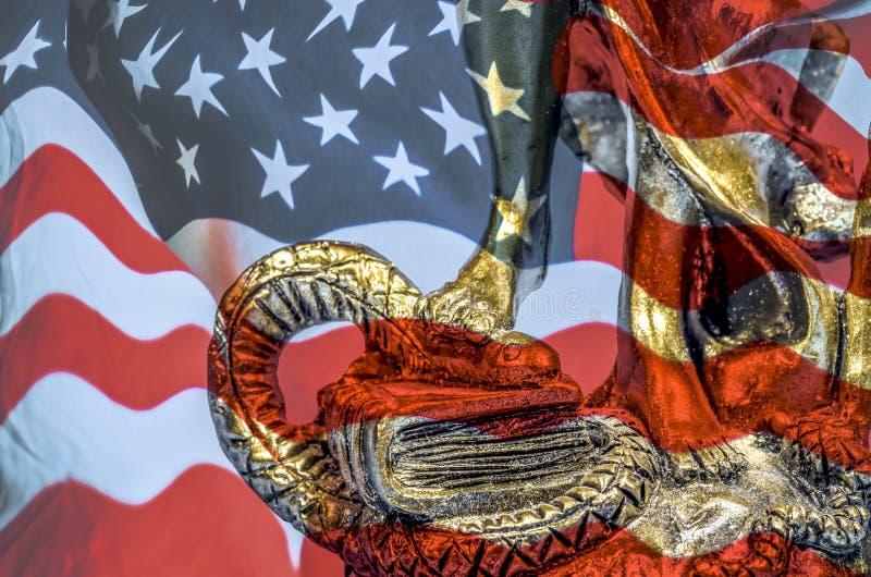 Ley y justicia americanas fotografía de archivo