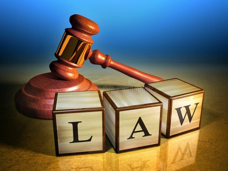 Ley y mazo ilustración del vector
