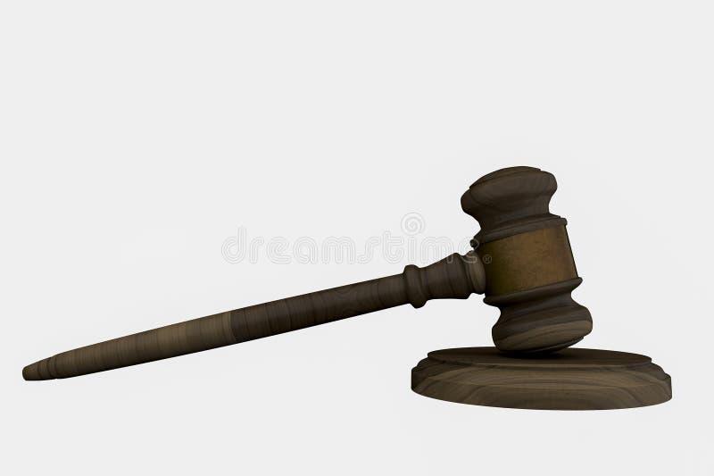 Ley y orden stock de ilustración