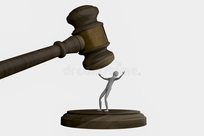 Ley y orden ilustración del vector