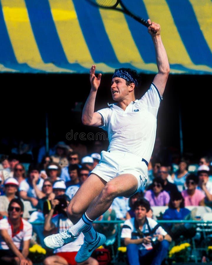 Leyenda John McEnroe del tenis imágenes de archivo libres de regalías