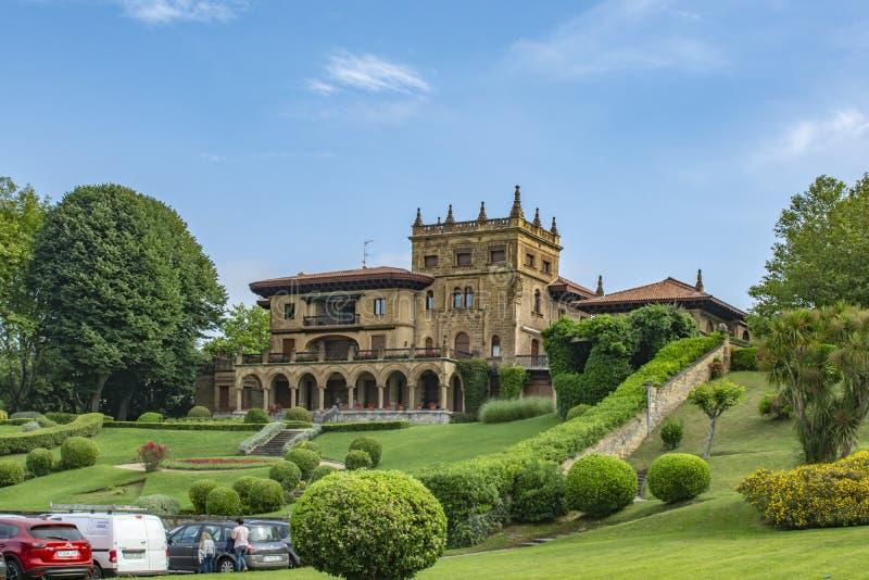 Lezama-Leguizamon slott, Getxo, baskiskt land arkivfoton