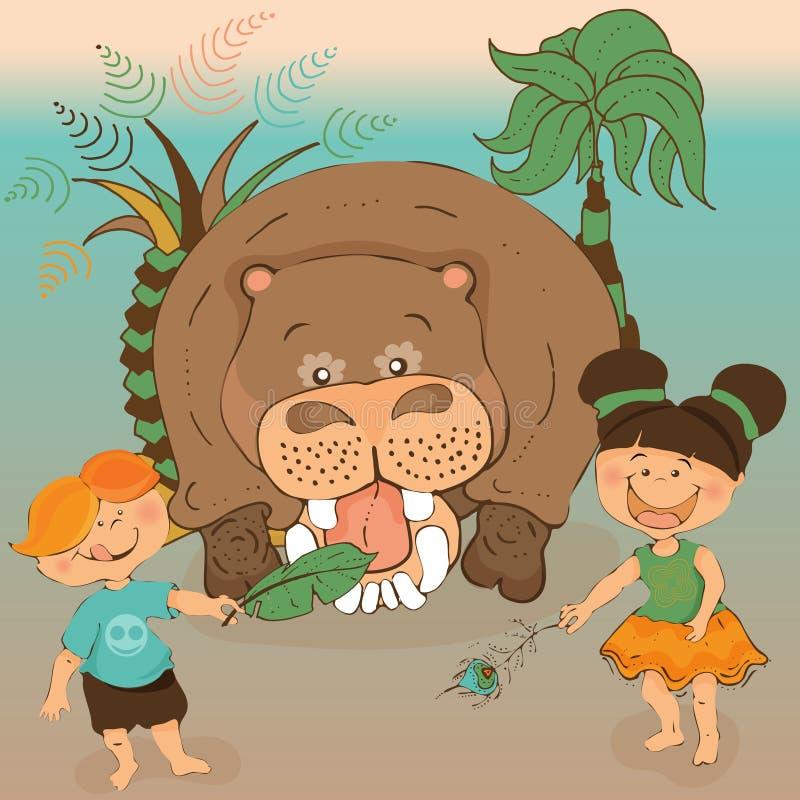 lezer voor kleuterschool, beelden op het sprookje over Barmalee worden gebaseerd die vector illustratie