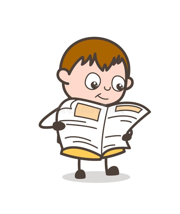 Lezingskrant - de Leuke Illustratie van het Beeldverhaal Vette Jonge geitje vector illustratie