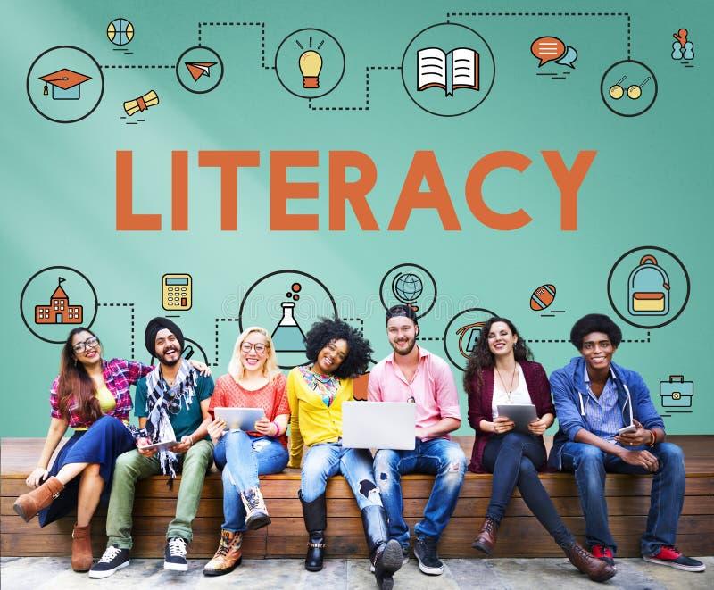Lezione che impara concetto di istruzione di conoscenza di alfabetizzazione immagini stock
