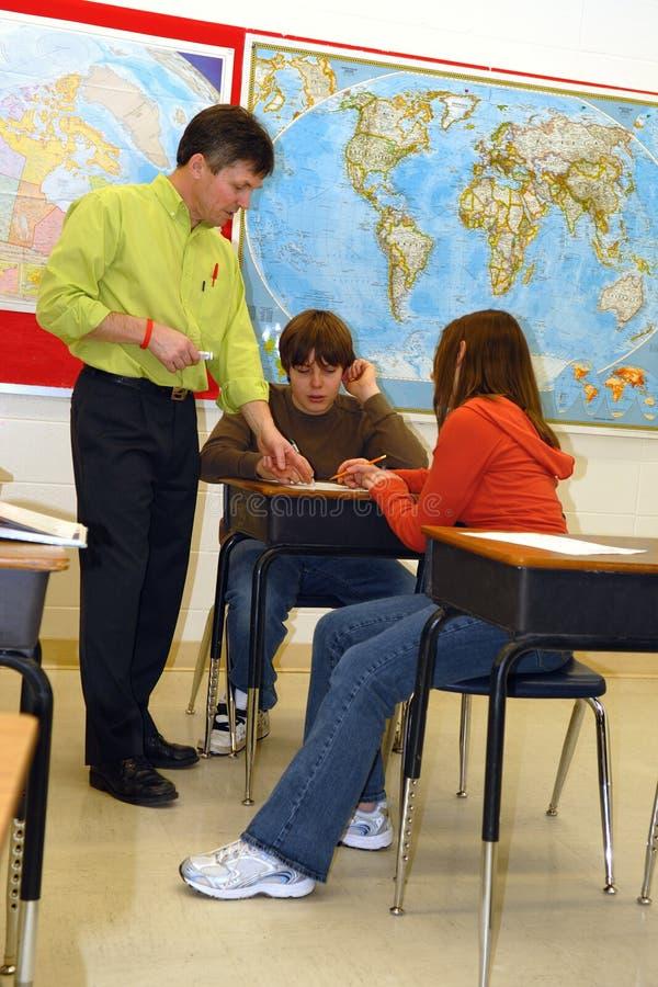 Lezione della High School immagine stock