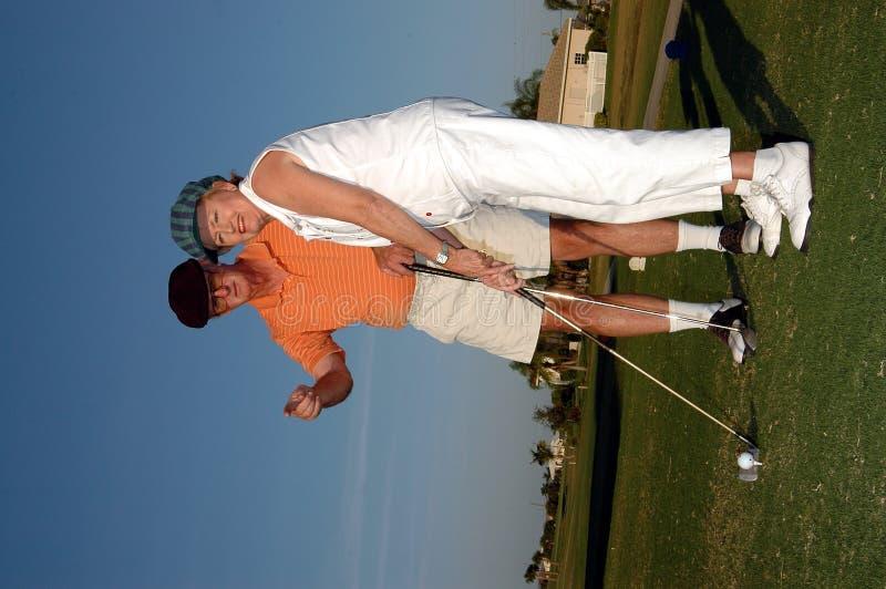 Lezione di golf immagine stock
