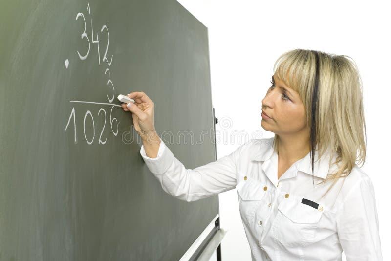 Lezione di per la matematica fotografie stock