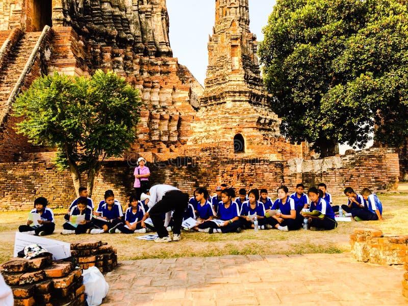 Lezione di Storia in Tailandia immagine stock libera da diritti