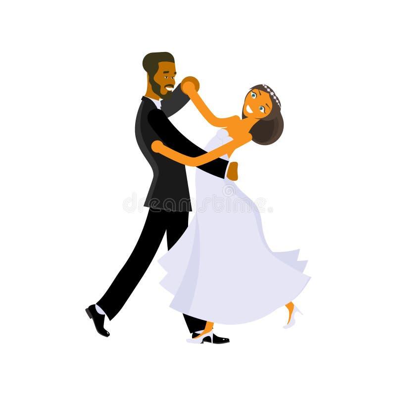 Lezioni di ballo di nozze illustrazione vettoriale