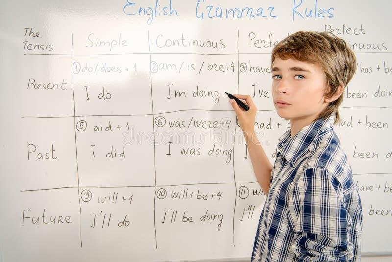 Lezioni di grammatica immagine stock libera da diritti