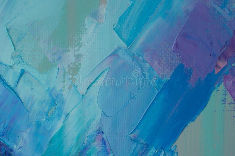 ?lfarbe auf Segeltuch wird durch Palettenmesser geschrieben Nahaufnahme einer Malerei vom ?l- und Palettenmesser auf Segeltuch lizenzfreies stockfoto