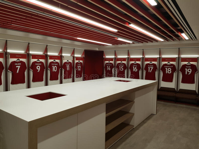 LFC Changing Room editorial photo. Image of anfield ...