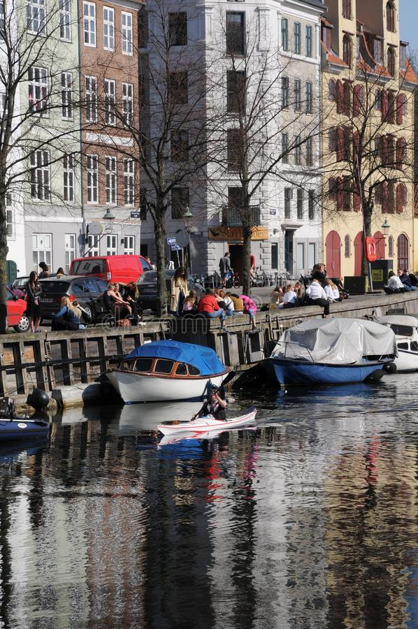 LFE AT CHRISTIANSHAVN CANAL royalty free stock images