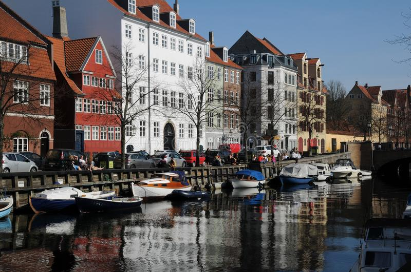 LFE AT CHRISTIANSHAVN CANAL royalty free stock photo