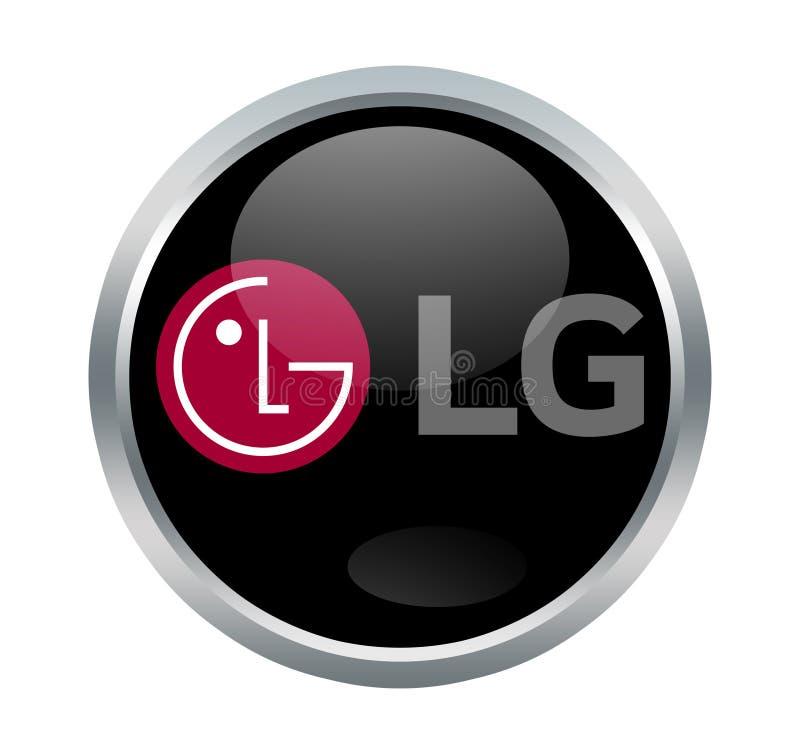 LG-bedrijfteken stock illustratie