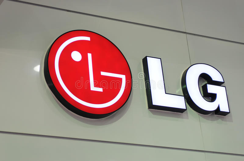 Lg booth logo royalty free stock images