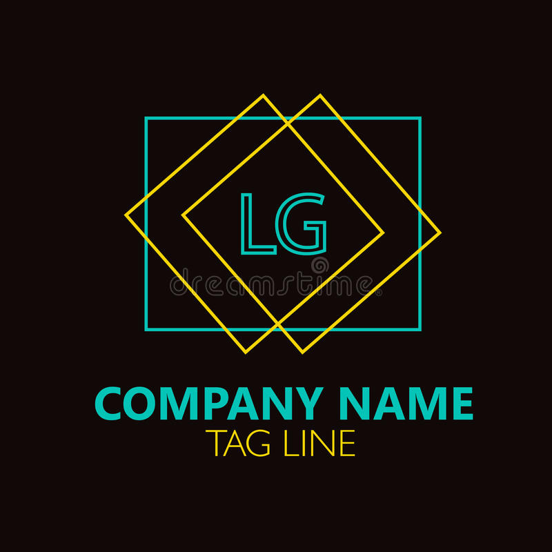 Lg Letter Logo Design Stock Vector Illustration Of Symbol 87748056