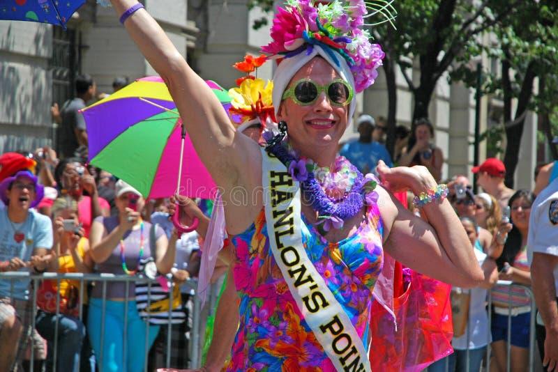 LGBT同性恋自豪日3月在曼哈顿 免版税库存照片