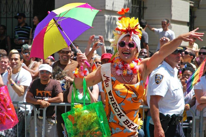 LGBT同性恋自豪日3月在曼哈顿 免版税库存图片